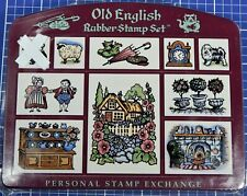 OLD ENGLISH Foam Mounted Rubber Stamp Set, by PSX (Missing 1 Stamp)