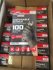 Grease Monkey Black Nitrile Gloves - Extra Large XL 100 Pack