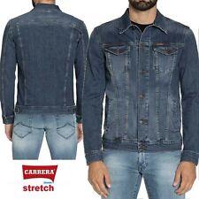 Giubbotto jeans CARRERA uomo elasticizzato giubbino in denim stretch 450 regular