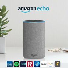 Amazon Echo (2. Gen), Intelligenter Lautsprecher mit Alexa, Hellgrau Stoff NEU