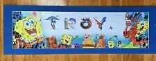 Personalized SpongeBob Squarepants Name Troy Poster Border Wall Decor Banner