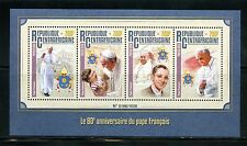 CENTRAL AFRICA 2016 80th BIRTH ANNIVERSARY OF POPE FRANCIS  SHEET  MINT NH