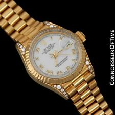 "Rolex Ladies ""Crown Collection"" President, Ref. 69238 - 18K & Factory Diamonds"