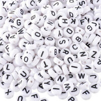 200pcs Lot Mini Acrylic Alphabet Letter Coin Round Spacer Beads- Loose Flat Q2Y4