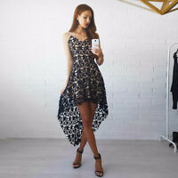 New Womens Lace Evening Cocktail Party Dress Ladies Sleeveless Long Maxi Dresses