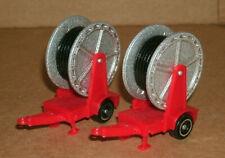 Two 1/72 Scale Farming Irrigation Hose Reel Trailers - Farm Diorama Miniatures