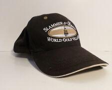 Slammer & Squire World Golf Village Baseball Cap Black Tan Adjustable Used