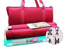 American Mahjong Set in Red Burgundy Bag 4 Color Pushers/Racks Western Mahjongg