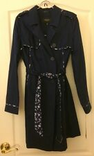 NWT Jason Wu For Target Navy Blue Trench Womens Coat Size S Small