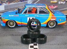 1/32 URETHANE SLOT CAR TIRES 2pr PGT-19094LMXD fits Carrera BMW 2002