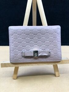 GG454 GUCCI Pink Micro Guccissima Leather Bifold Card Wallet  Make This beauty