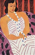 """WOW 1948 Henri MATISSE Antique Print """"Woman in a White Dress"""" Framed SIGNED COA"""