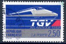 STAMP /// TIMBRE FRANCE OBLITERE N° 2607 LE TGV ATLANTIQUE