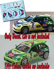 Decal 1:43 Jose Maria Ponce - SEAT IBIZA KIT CAR - Rally Gran Canaria 1997