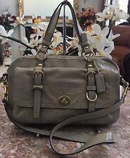 Coach 14030 RARE Chelsea Legacy Gray Pat. Leather Large Satchel Handbag EUC $478