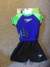 New Speedo Begin To Swim UV Flotation Suit.  Boys.  S/M.  Lime. Black, Navy.