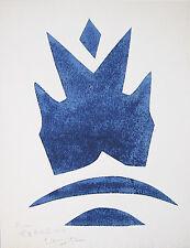 "GEORGES BRAQUE Signed 1961 Original Color Woodcut from ""Si je mourais là-bas"""