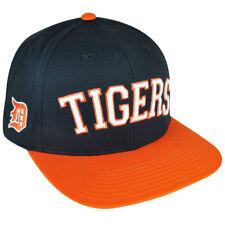 a05704d424b35e MLB American Needle Detroit Lions Flat Bill Snapback Hat Cap Navy Adjustable
