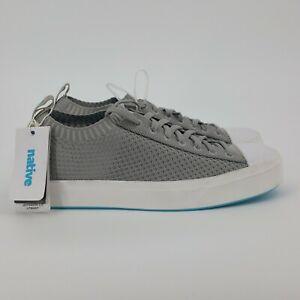 NATIVE Mens Jefferson 2.0 LiteKnit Shoes Size 10 NEW Grey Slip-On Sneakers