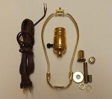 "TABLE LAMP WIRING KIT WITH 3-WAY SOCKET, 6"" HARP, BROWN CORD SET 30551P6JB"