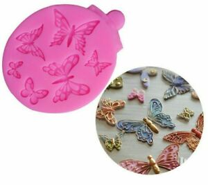Aus Seller..ASSORTED BUTTERFLIES SILICONE MOULD..Fondant/chocolate.new