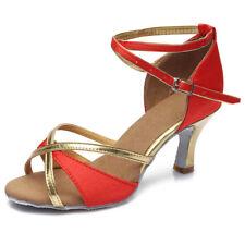 Women Girl lady's Ballroom Tango Latin Dance Dancing Shoes heeled 4 Colors