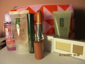 Clinique 6pc set: Mascara, Eye shadow, Hydrating Jelly, Facial Cleanser, bag