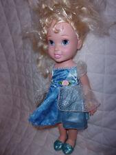 "Disney Cinderella Doll 16"" Ballerina Slippers Blue Dress Articulated Toy"
