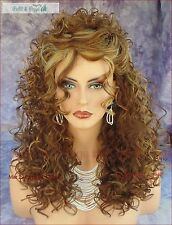 Deep C Lace Part Long Curly Wig Color FS8.27.613 Brown Mix Stunning Style 329