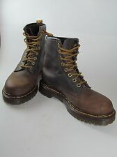 Dr Martens 5 Airwair Brown Boots 1460 8 eyed lace ups Leather England Cushioned