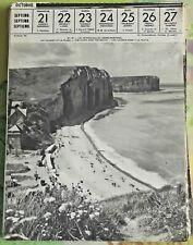 1957 Les Petites-Dalles les Falaises et la Plage Seine-Maritime art print