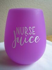Nurse Juice Silicone Wine Glass RN LPN