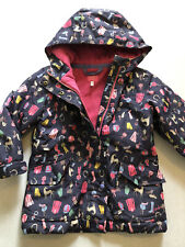 Girls Joules Waterproof Warm Coat with Horse Pattern Age 6 Years