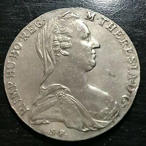 1780 AUSTRIA SILVER MARIA THERESA RESTRIKE THALER CROWN
