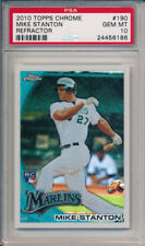 Mike Giancarlo Stanton Marlins 2010 Topps Chrome Refractor Rookie Card rC PSA 10
