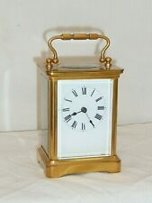 8 Day Brass Carriage Clock for Spares or Repair No Escapement