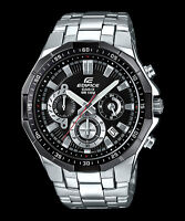 EFR-554D-1A Black Casio Men's Watches Edifice Date Analog Full Box Packy New