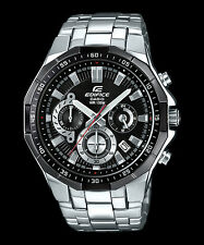 Casio Edifice Chronograph Mens Analog Watch Casual Silver Band Efr-554d-1a