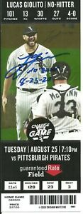 Lucas Giolito Autographed No Hitter ticket 8/25/20 Chicago White Sox ! Fanatics
