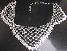 Tribal Coin Chain Metal Belly Dance BELT Hip Scarf Skirt Dress Costume Accessory