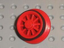 Roue moteur x556 + Caoutchouc 12 v LEGO TRAIN rubber rim for motor wheels x458