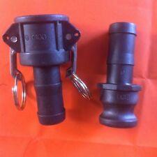 Camlock 1 inch BSP Set | Type C + E | Poly / Glass | hose fire pump