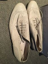 topshop beige shoes size 8 brogues
