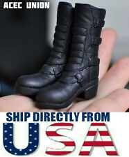 KUMIK FS-14 1/6 Scale Black Widow Catwoman Riding Boots BLACK - U.S.A. SELLER