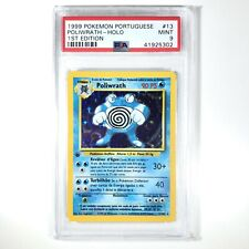 Pokemon Card Portuguese POLIWRATH HOLO 1st Edition Base Set Rare 13/102 PSA 9