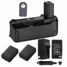 Vivitar Battery Grip for Sony A6000 + 2x NP-FW50 Battery + AC/DC Charger