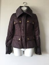 GUCCI BY TOM FORD 2003 COLLECTION BROWN NYLON PADDED JACKET SIZE IT 38, US XS/2