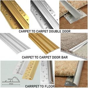 2 x Carpet Flooring Plates Door Metal Threshold Bars Trims Length - 90cm (3ft)