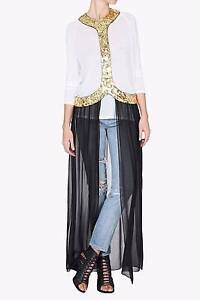 "BNWT  SASS & BIDE   ""Riverbed Ruins""  2 Piece Embellished Harness - Size 6- $990"