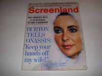 Vintage SCREENLAND Magazine, February, 1969, ELIZABETH TAYLOR, LAWRENCE WELK!